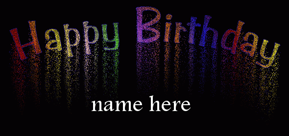 Write Name On Happy Birthday Fireworks
