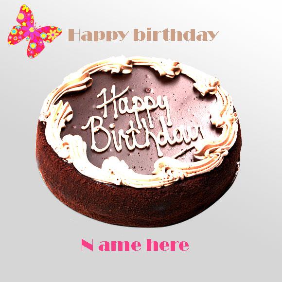 Write Your Name On Birthday Cake Chocolate Birthday Cake Gifaya