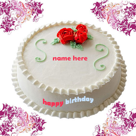 Write Name On Birthday Cake Gif Image White